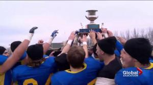 Saskatoon Hilltops down Calgary Colts 43-31, capture 3rd straight PFC title
