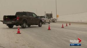 March snow causes havoc on Calgary and area roads