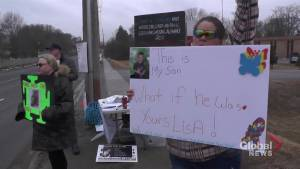 Peterborough parents protest autism care as Lisa MacLeod visits with local Conservatives