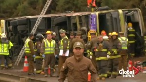 6 killed, dozens injured after bus overturns in Chile