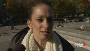 Woman who claims to have met Cpl Cirillo online cries at War Memorial