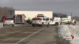 One woman dead in collision on QE2 near Bowden