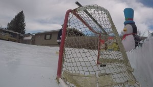 B.C. father builds backyard ice rink