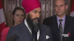 Singh Blames Trudeau for Trans Mountain dispute, not provinces