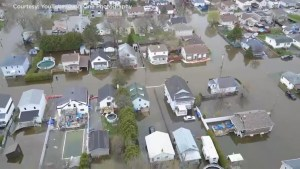 Aerial footage captures bird's-eye view of the Gatineau spring flooding