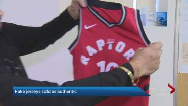 official photos 6d4bb e1c5a Customer says he was sold counterfeit Toronto Raptors jersey ...
