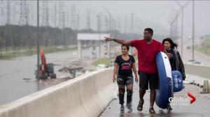 Thousands stranded in Houston with waters still rising