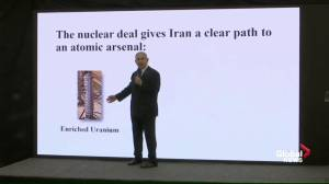 Netanyahu uses slideshow to accuse Iran of violating nuclear deal