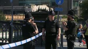 Armed police patrols fill the streets of Manchester