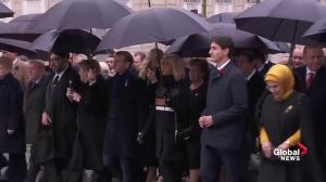 World leaders march down Champs-Élysées in show of unity on centenary of Armistice