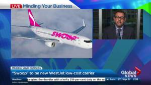Westjet's new ultra-low-cost airline to be called 'Swoop'