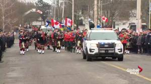 Regimental funeral for fallen Nova Scotia firefighter Skyler Blackie (04:37)
