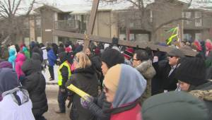 Winnipeggers take to the streets for Way of the Cross march on Good Friday