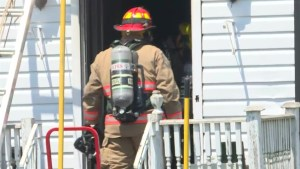 A section of Hwy. 33 closed due to house fire in Loyalist Township