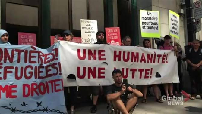 Montreal protesters urge Ottawa to halt Haiti deportations after travel advisory issued
