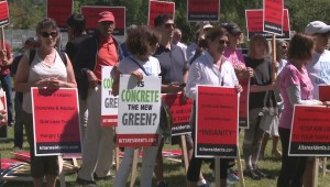 Kitsilano residents protest Seaside Greenway completion party