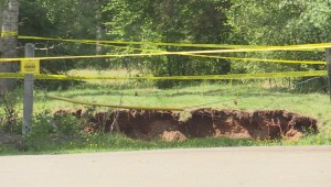 Nova Scotia sinkhole still growing, poses risk to community