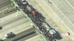 California bar shooting: Hundreds line up as fallen officer's hearse passes on the highway