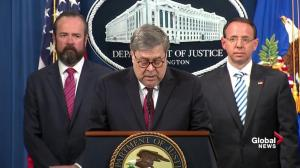 Barr: No evidence that any American coordinated with the Russian government