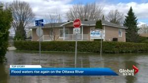 Waters still rising along Ottawa River