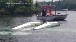 Pilot uninjured after crashing his small float plane during take-off