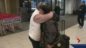 Bittersweet reunion at Calgary airport
