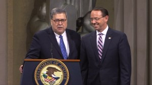 Barr delivers jab at Rosenstein as he leaves Justice Department