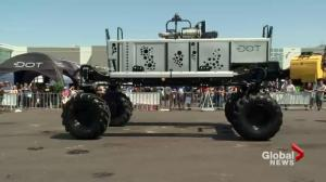 Driverless machinery and 3D printing: future of farming on display