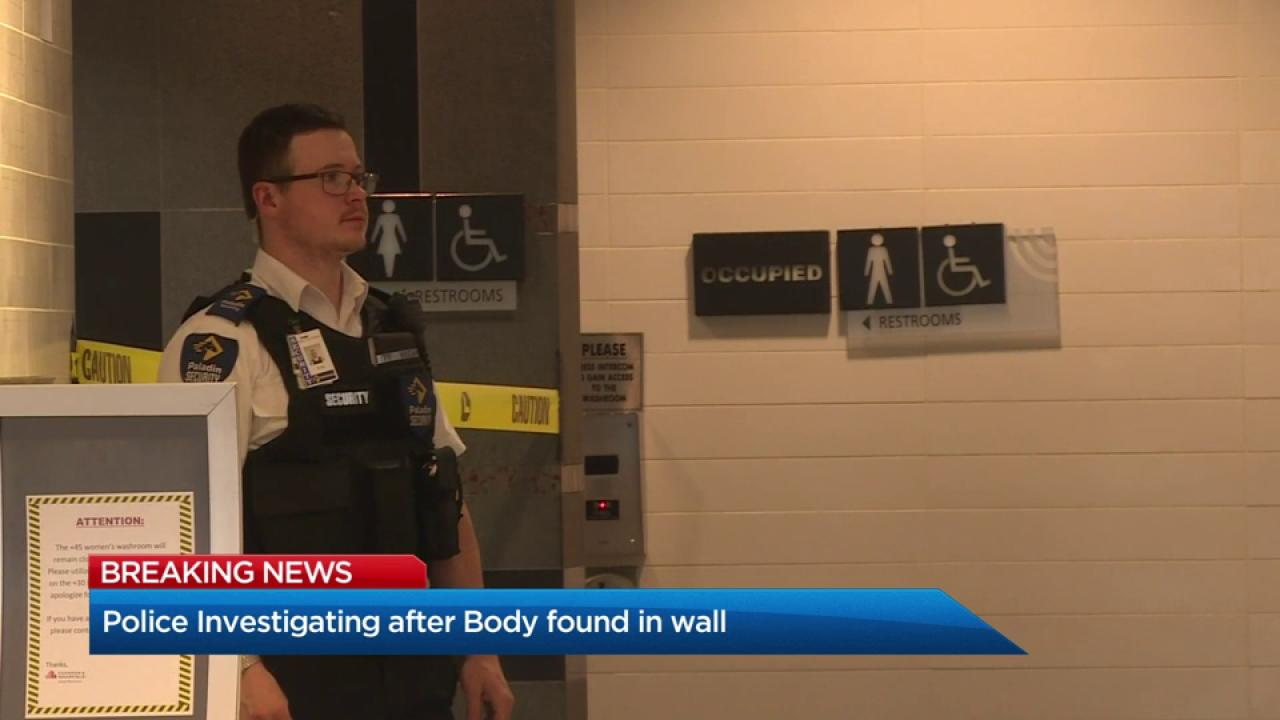 Body Found Inside Wall of Women's Restroom at Mall