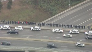 Beginning of motorcade with Const. John Davidson's body