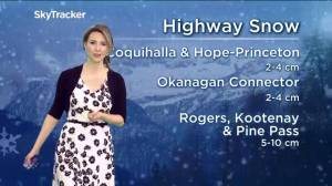 B.C. morning weather forecast for Saturday, April 27, 2019