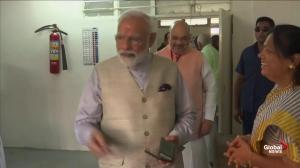 India's Modi votes in general election