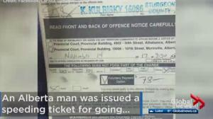 Driver apologizes to law enforcement for speeding ticket attention