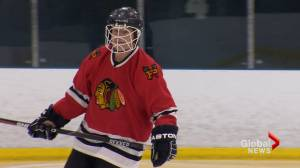 Former hockey pro still hitting the ice at 77, playing with teammates half his age