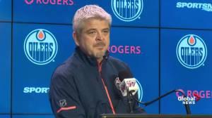 'Mind somewhere else': Under prepared Oilers coach meets with media after Humboldt visit