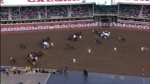 Chuckwagon community rallies behind driver injured in Tuesday's race