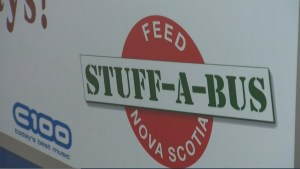 Transit buses hit the streets of Halifax for the annual Stuff A Bus Campaign