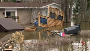 Quebec community left underwater as flooding continues days after dike breached nearby (02:23)