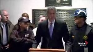 Mayor Bill de Blasio confirms 1 dead, 3 injured following crane collapse in NYC
