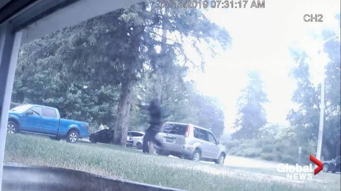 Police release surveillance footage of suspect in murder of Brantford couple