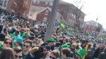 Massive St. Patrick's Day crowd forces street closures in Waterloo
