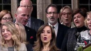Gender-neutral 'O Canada' sung in parliament for 1st time since Senate approval