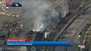 Massive fire in Cochrane