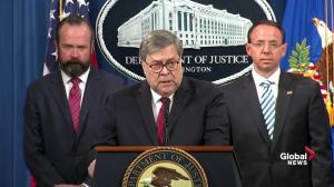 William Barr: I disagreed with some of Robert Mueller's legal theories on obstruction of justice