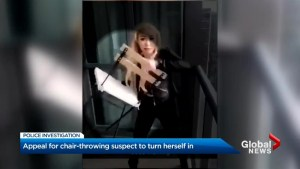 Toronto police identify woman who allegedly threw chair over condo balcony