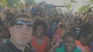 Dancing cop at Black Lives Matter rally becomes viral hit