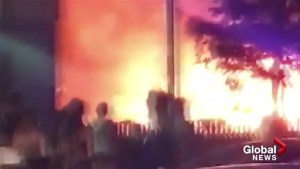 Large flames of Kelowna house fire caught on cell phone video