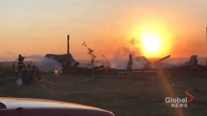 Fire devastates Alberta fish farm (02:01)