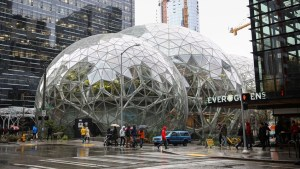 Amazon open futuristic 'Spheres' landmark in downtown Seattle