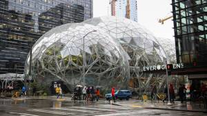 Amazon open futuristic 'Spheres' landmark in downtown Seattle